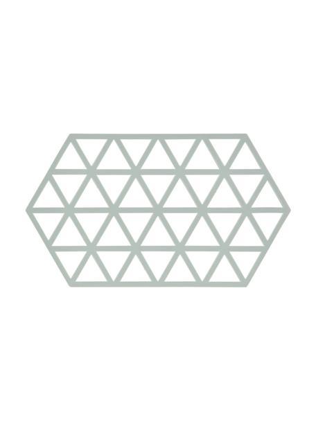 Silikon Topfuntersetzer Triangle in Pastellblau, Silikon, Pastellblau, 14 x 24 cm