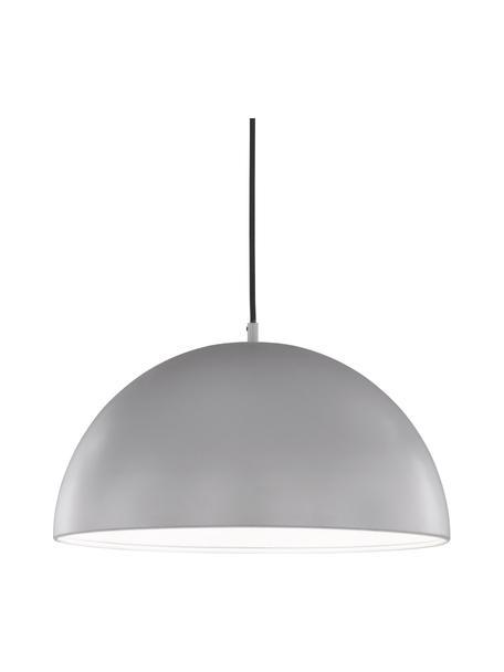 Lámpara de techo de metal Kia, estilo moderno, Pantalla: metal recubierto, Anclaje: metal recubierto, Cable: cubierto en tela, Gris claro, Ø 40 x Al 20 cm