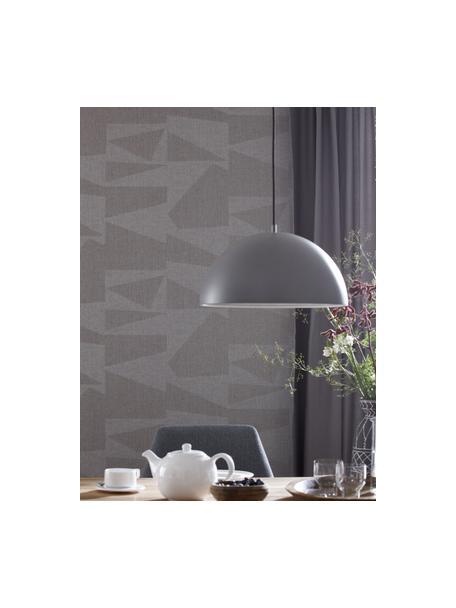 Moderne Pendelleuchte Kia aus Metall, Lampenschirm: Metall, beschichtet, Baldachin: Metall, beschichtet, Hellgrau, Ø 40 x H 20 cm