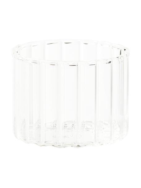 Szklanka ze szkła borokrzemowego Romantic, 6 szt., Szkło borokrzemowe, Transparentny, Ø 8 x W 6 cm