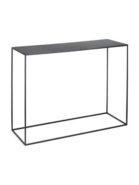 Metalen sidetable Tensio in zwart, Gepoedercoat metaal, Zwart, B 100 x D 35 cm