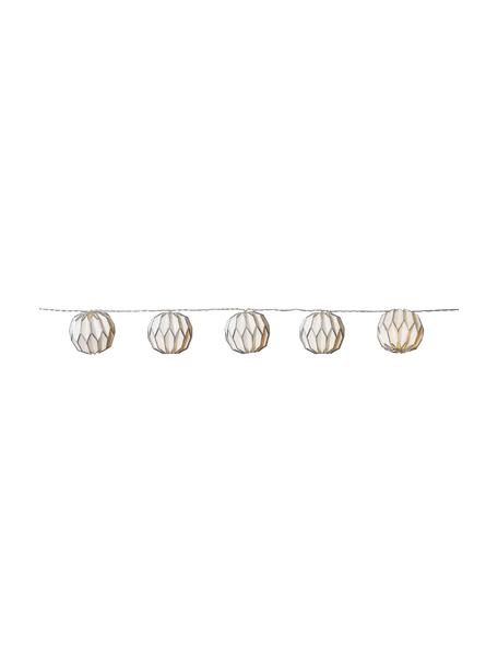 LED lichtslinger Origami, 275 cm, 10 lampions, Wit, zilverkleurig, L 275 cm