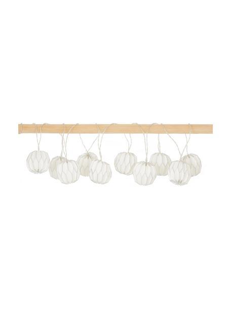 Guirnalda de luces LED Origami, 10 luces, Cable: plástico, Blanco, plateado, L 275 cm