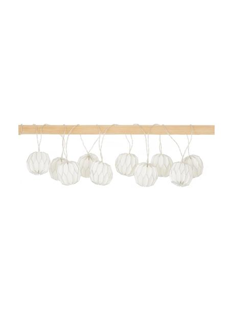 LED-Lichterkette Origami, 275 cm, 10 Lampions, Weiß, Silberfarben, L 275 cm