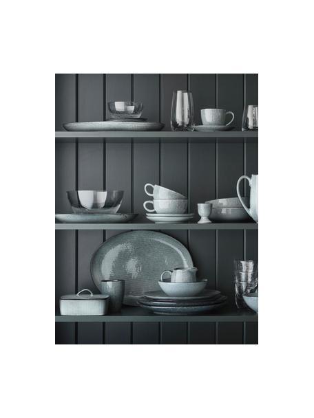 Mantequillera artesanal Nordic Sea, Gres, Tonos grises y azules, An 15 x F 12 cm