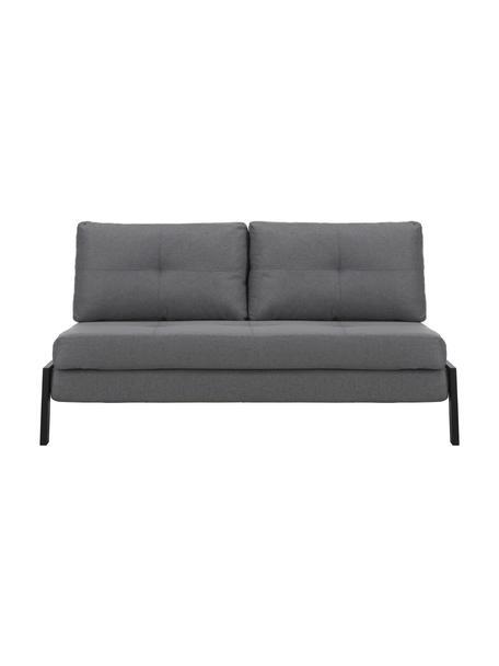Sofá cama Edward, plegable, Tapizado: 100%poliéster Resistenci, Tejido gris oscuro, An 152 x F 96 cm