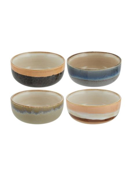 Set 4 ciotole retrò fatte a mano 70's, Ceramica, Multicolore, Ø 11 x Alt. 5 cm