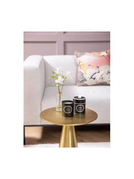 Duftkerze Black Magic (Zitrus, Vanille, Patschuli & Lavendel), Behälter: Glas, Deckel: Metall, Schwarz, Ø 7 x H 9 cm