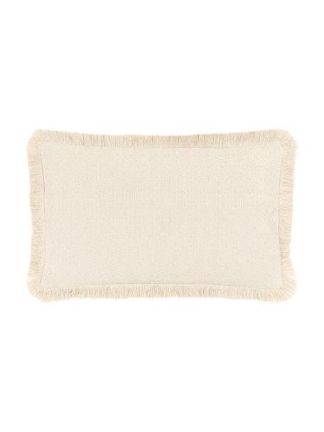 Poszewka na poduszkę z frędzlami Lorel, 100% bawełna, Beżowy, S 30 x D 50 cm