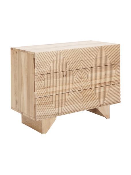 Szafka z szufladami litego drewna jesionowego Louis, Drewno jesionowe, S 100 x W 75 cm