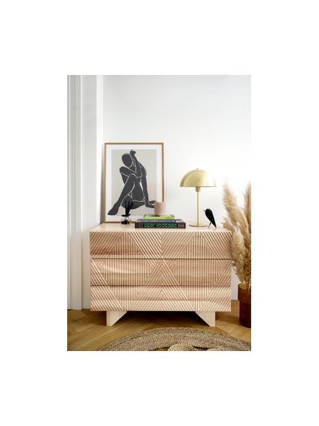 Ladekast Louis van massief essenhout, Essenhout, 100 x 75 cm