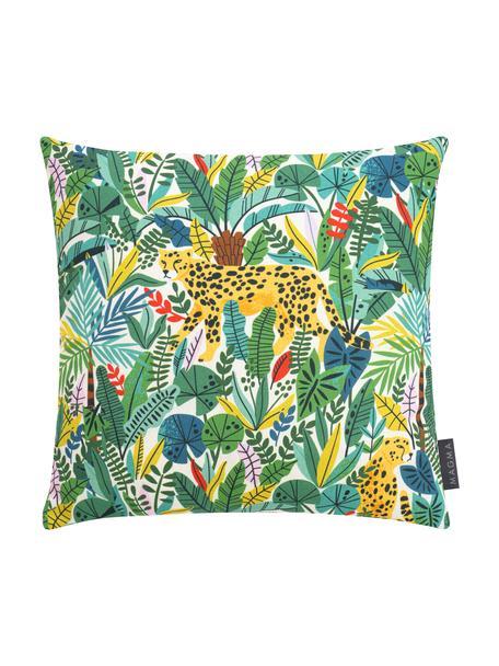 Kussenhoes Wildlife met jungle motief, Weeftechniek: half panama, Groen, multicolour, 40 x 40 cm