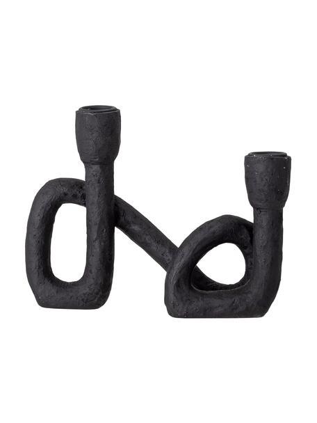 Świecznik Mashel, Tworzywo sztuczne, Czarny, S 21 x W 17 cm