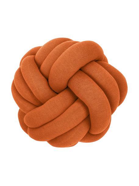 Cuscino annodato color terracotta Twist, Terracotta, Ø 30 cm
