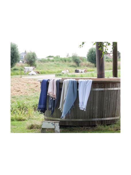 Fouta Soft Cotton, Reverso: afelpado, Gris antracita, blanco, An 100 x L 180 cm