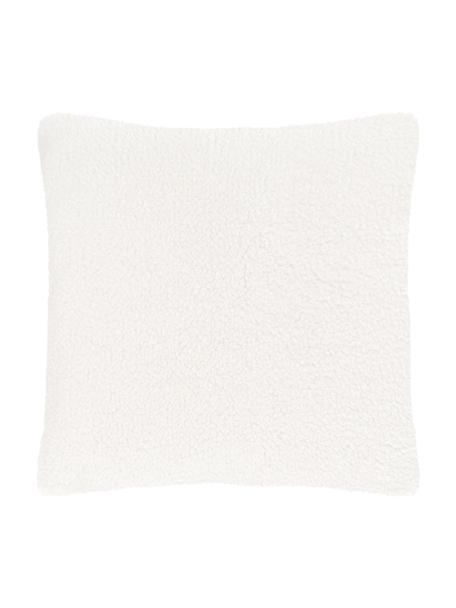Federa arredo in teddy Mille, Retro: 100% poliestere (teddy), Crema, Larg. 45 x Lung. 45 cm