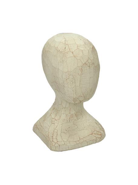 Oggetto decorativo Head, Poliresina, Beige, Larg. 12 x Alt. 20 cm