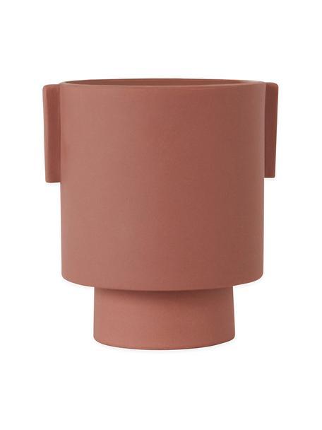 Portavaso da interno/esterno in ceramica fatto a mano Ika, Ceramica, Terracotta, Ø 15 x Alt. 16 cm