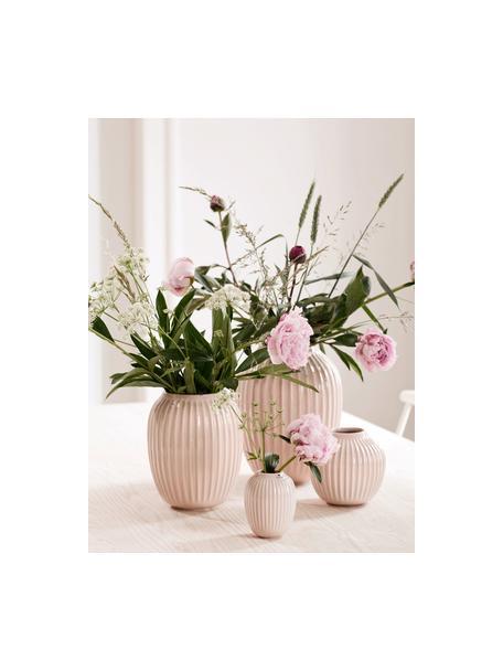 Handgefertigte Design-Vase Hammershøi, Porzellan, Rosa, Ø 17 x H 20 cm