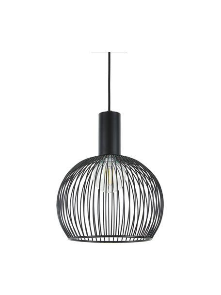 Lampa wisząca z metalu Aver, Czarny, Ø 30 x W 35 cm