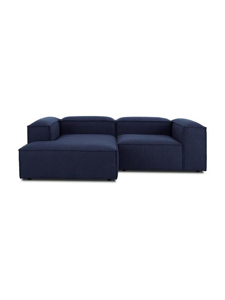 Sofá rinconero modular Lennon, Tapizado: 100%poliéster Alta resis, Estructura: madera de pino maciza, ma, Patas: plástico Las patas están , Tejido azul, An 238 x F 180 cm