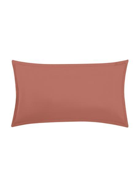 Poszewka na poduszkę z lnu z efektem sprania Nature, 2 szt., Terakota, S 40 x D 80 cm