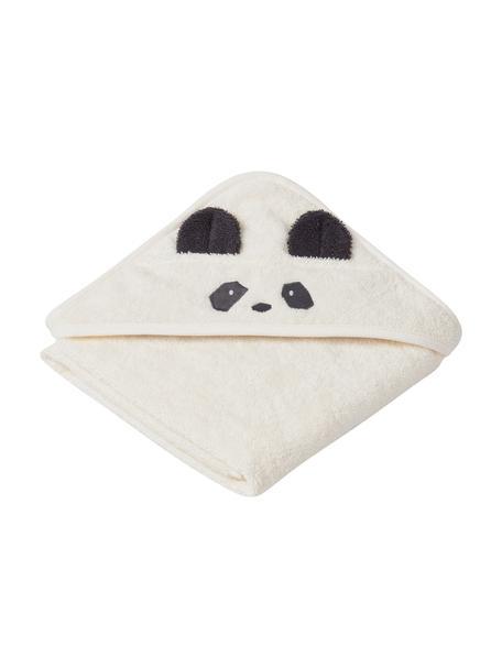 Babyhanddoek Albert Panda, 100% biokatoen (terry), Wit, Zwart, 70 x 70 cm