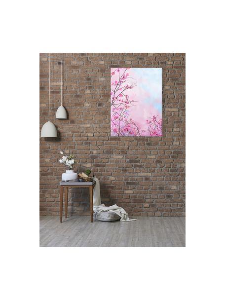 Stampa su tela Sakura Floral, Immagine: stampa digitale su lino, Multicolore, Larg. 63 x Alt. 83 cm