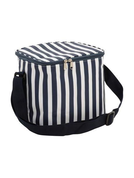 Borsa termica da picnic Clair, Rivestimento: poliestere, Blu scuro, bianco, Larg. 25 x Alt. 24 cm