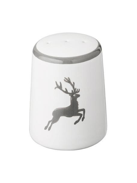 Pimentero artesanal Classic Grauer Hirsch, Cerámica, Gris, blanco, 4 x 6 cm