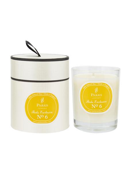 Świeca zapachowa Exclusive No 6 (limonka i cytryna), Pomarańczowy, biały, Ø 8 x W 9 cm
