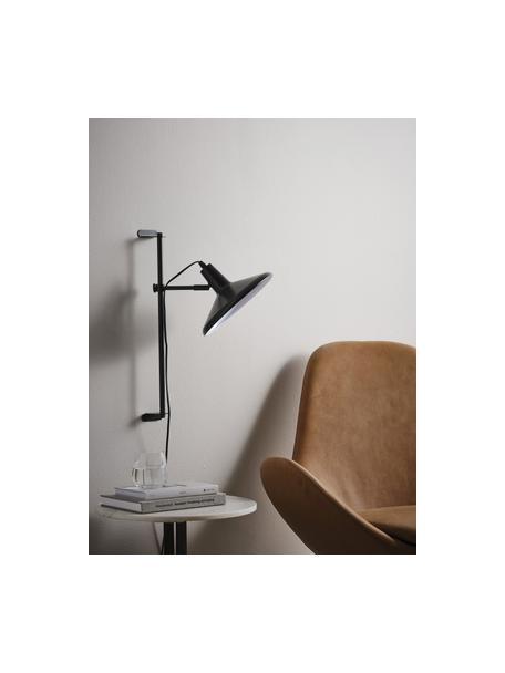 Höhenverstellbare Wandleuchte Twiss mit Stecker, Lampenschirm: Metall, lackiert, Schwarz, Ø 25 x H 50 cm