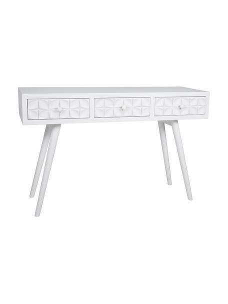 Consola Diamandio, Estructura: madera de abeto, tablero , Blanco, An 120 x Al 77 cm
