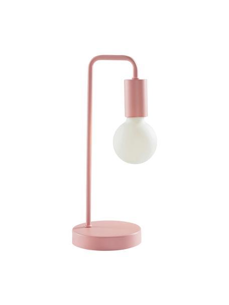 Lampada da tavolo Cascais, Paralume: metallo rivestito, Rosa, Ø 14 x Alt. 35 cm