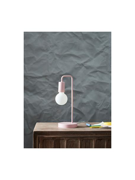 Tafellamp Cascais, Lampenkap: gecoat metaal, Roze, Ø 14 x H 35 cm