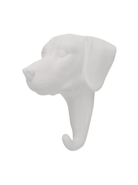 Wandhaak Dog, Porselein, Wit, H 13 cm
