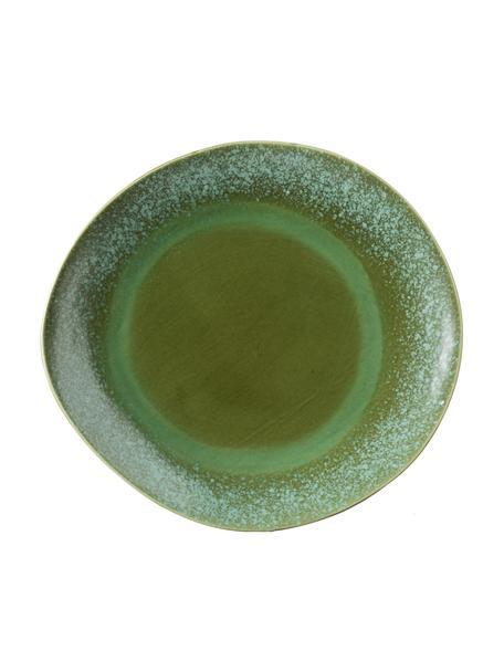 Sottopiatto stile retrò fatto a mano 70's 2 pz, Gres, Tonalità verdi, Ø 29 cm