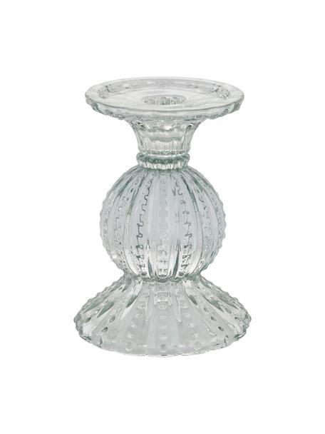 Kerzenhalter Silva, Glas, Transparent, Ø 10 x H 14 cm
