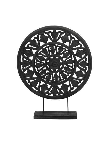 Dekoracja Brahma, Drewno lakierowane, Czarny, S 40 x W 50 cm