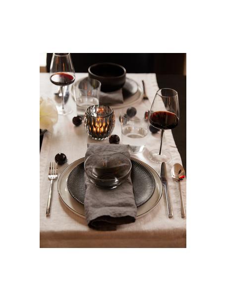 Piattino da dessert con struttura rigata Neri 2 pz, Gres Con una struttura scanalata e una superficie leggermente ruvida, Nero, Ø 23 cm