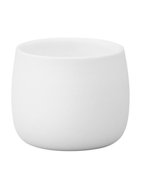 Tazas originales térmicas de café Foster, 2uds., Porcelana, Exterior: blanco mate Interior: blanco brillante, 40 ml