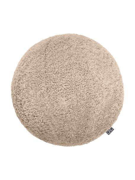 Cojín esférico artesanal en tejido bouclé Palla, con relleno, Tapizado: 100%poliéster, tejido bo, Arena, Ø 30 cm