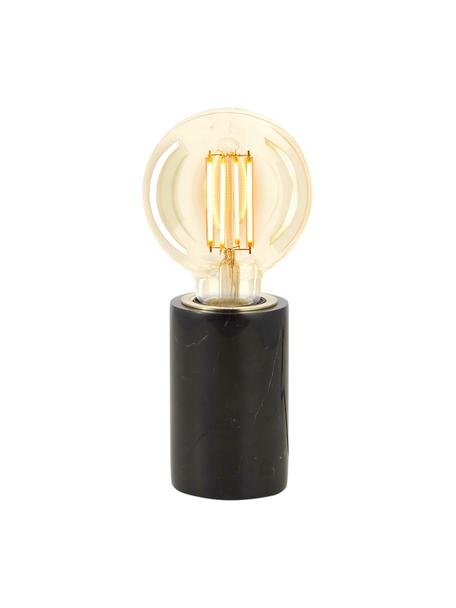 Lampada da tavolo in marmo Siv, Base della lampada: marmo, Nero, Ø 6 x Alt. 10 cm