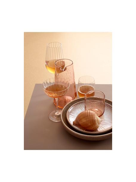 Kristall-Champagnerschalen Romance mit Rillenrelief, 6 Stück, Kristallglas, Transparent, Ø 11 x H 16 cm