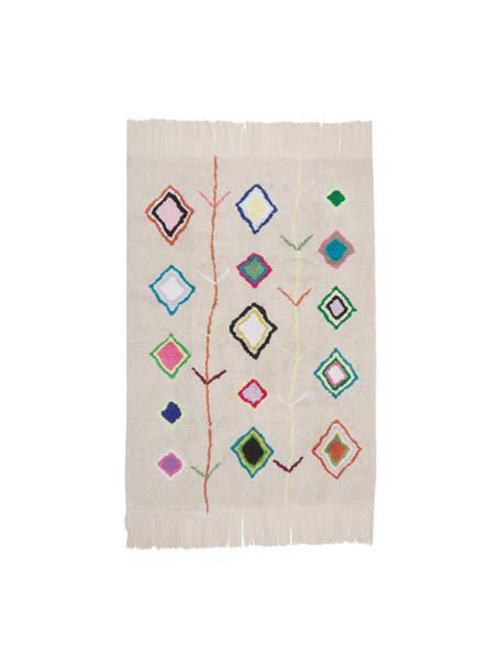 Alfombra lavable artesanal Kaarol, Parte superior: 97%algodón reciclado, 3%, Reverso: algodón reciclado, Multicolor, An 140 x L 200 cm(Tamaño S)