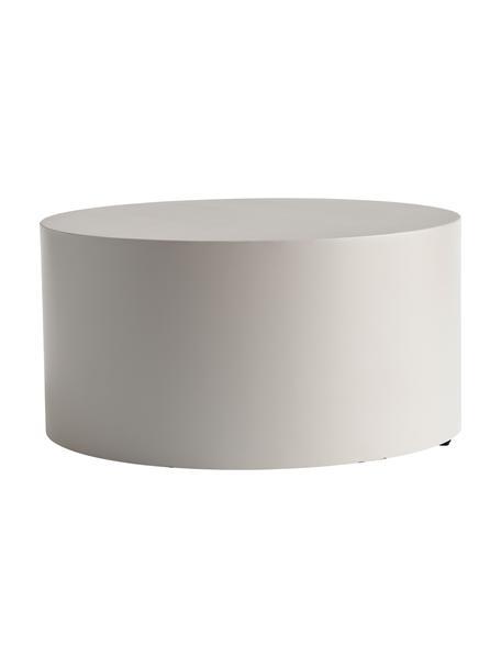 Mesa de centro redonda de metal Metdrum, Metal, Gris claro, Ø 60 x Al 30 cm