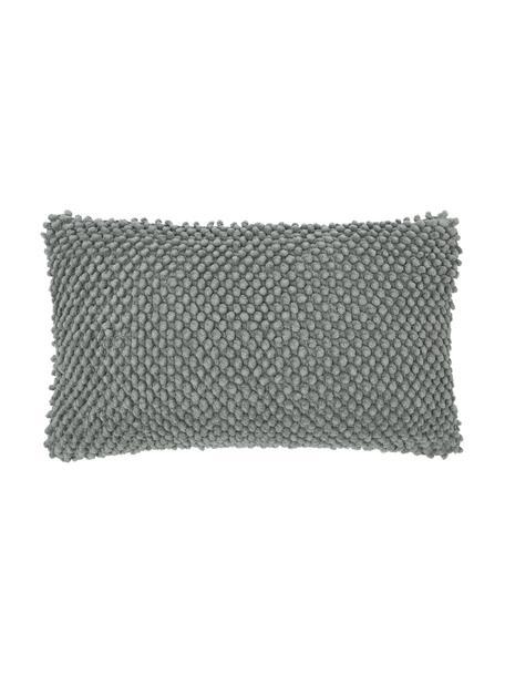 Kussenhoes Indi met gestructureerde oppervlak in saliegroen, 100% katoen, Saliegroen, 30 x 50 cm