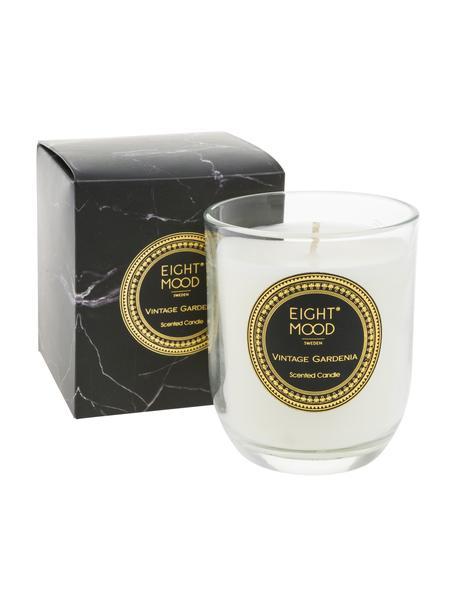 Duftkerze Black Marble (Gardenie), Behälter: Glas, Behälter: Transparent Wachs: Weiß, Ø 8 x H 9 cm