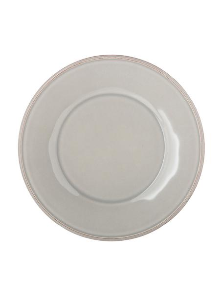 Ontbijtbord Constance in lichtgrijs, 2 stuks, Keramiek, Lichtgrijs, Ø 24 cm