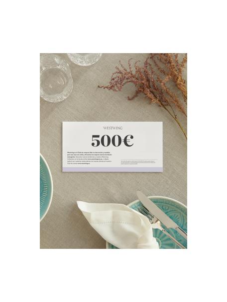 Cupón regalo, Cupón regalo impreso en papel fino dentro en un sobre de alta calidad, Blanco, 500